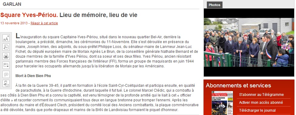 Inauguration square Yves Piriou