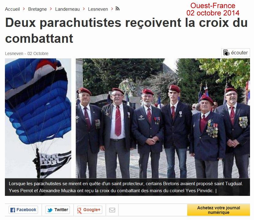 Ouest-France Lesnevenn 02 octobre 2014