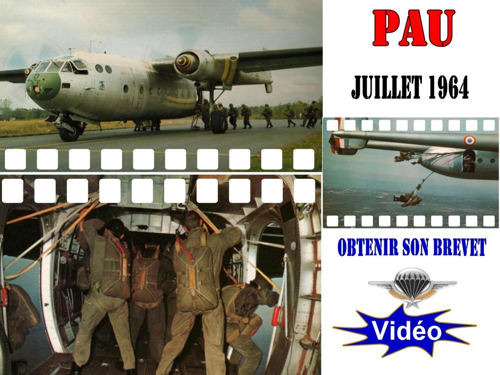 Brevet militaire parachutiste juillet 1964 ! Premier saut, Noratlas il y a 51 ans !!