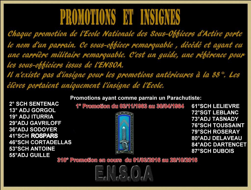 Promotions ENSOA- les Parrains parachutistes - A