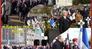 Cérémonie du 11 novembre 2016 à Quimper