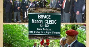 Huelgoat-Une plaque en l'honneur de Marcel Clédic